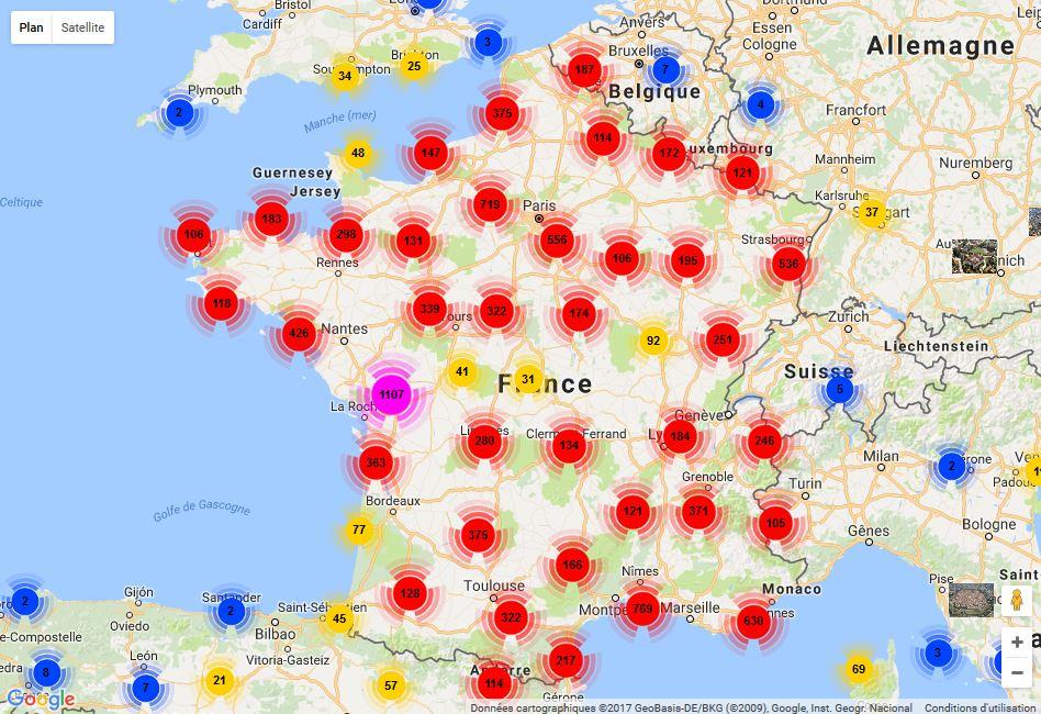 cliquer sur la carte pour afficher google map - Comment Voir Sa Maison Sur Google