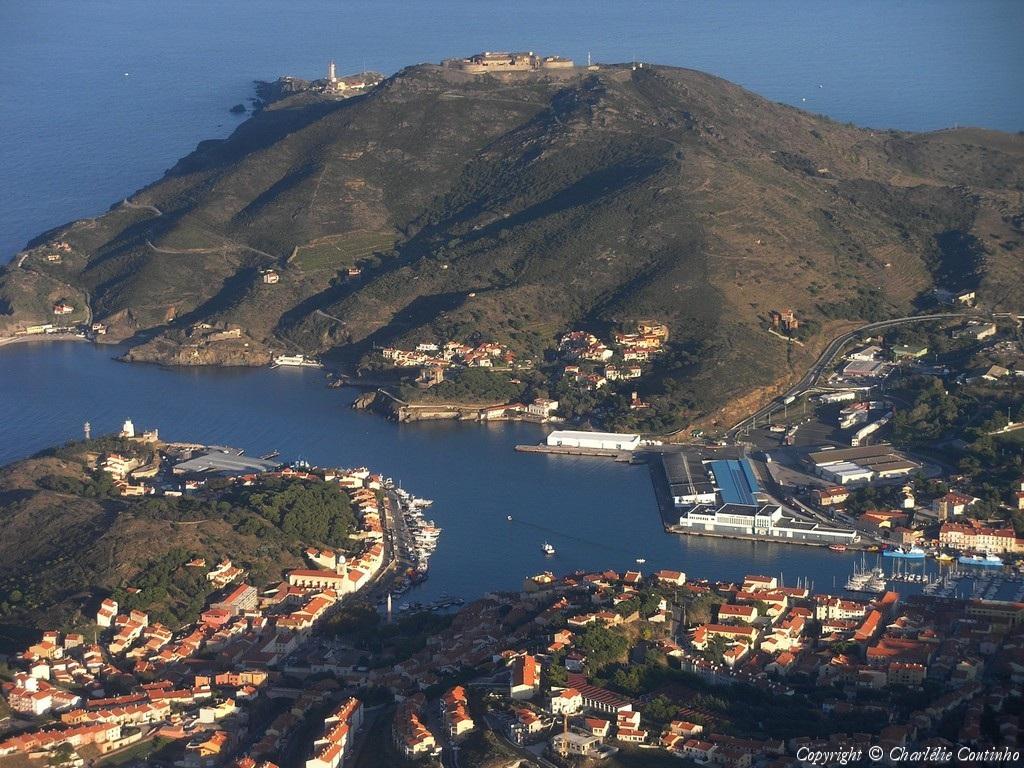 Photo a rienne de port vendres pyr n es orientales 66 - Office du tourisme de port vendres ...
