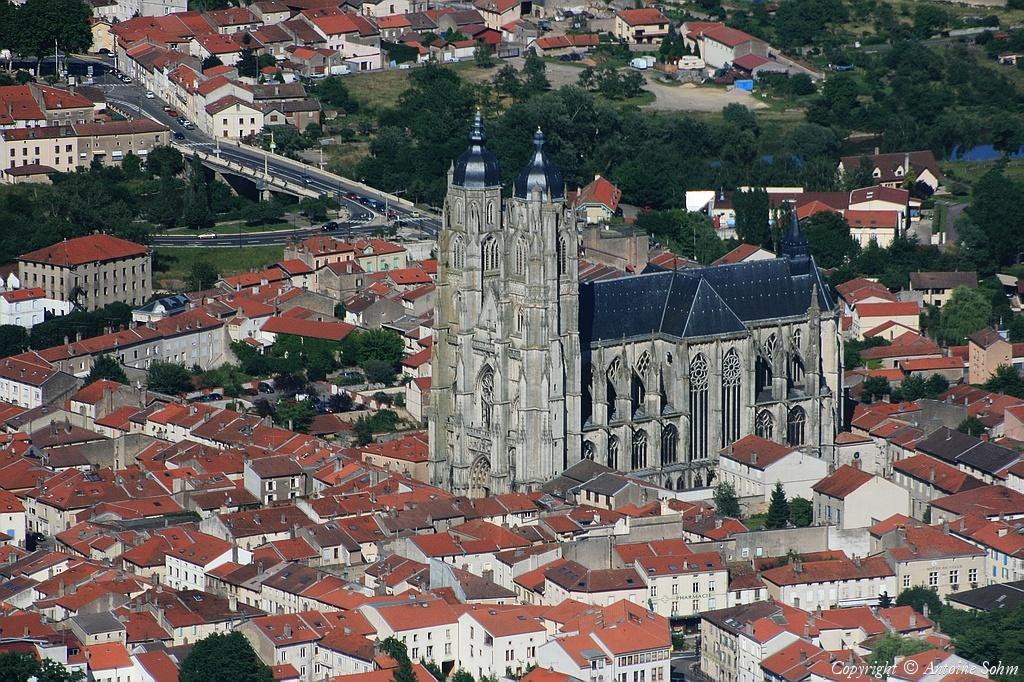 Photo a rienne de saint nicolas de port meurthe et moselle 54 - Basilique de saint nicolas de port ...