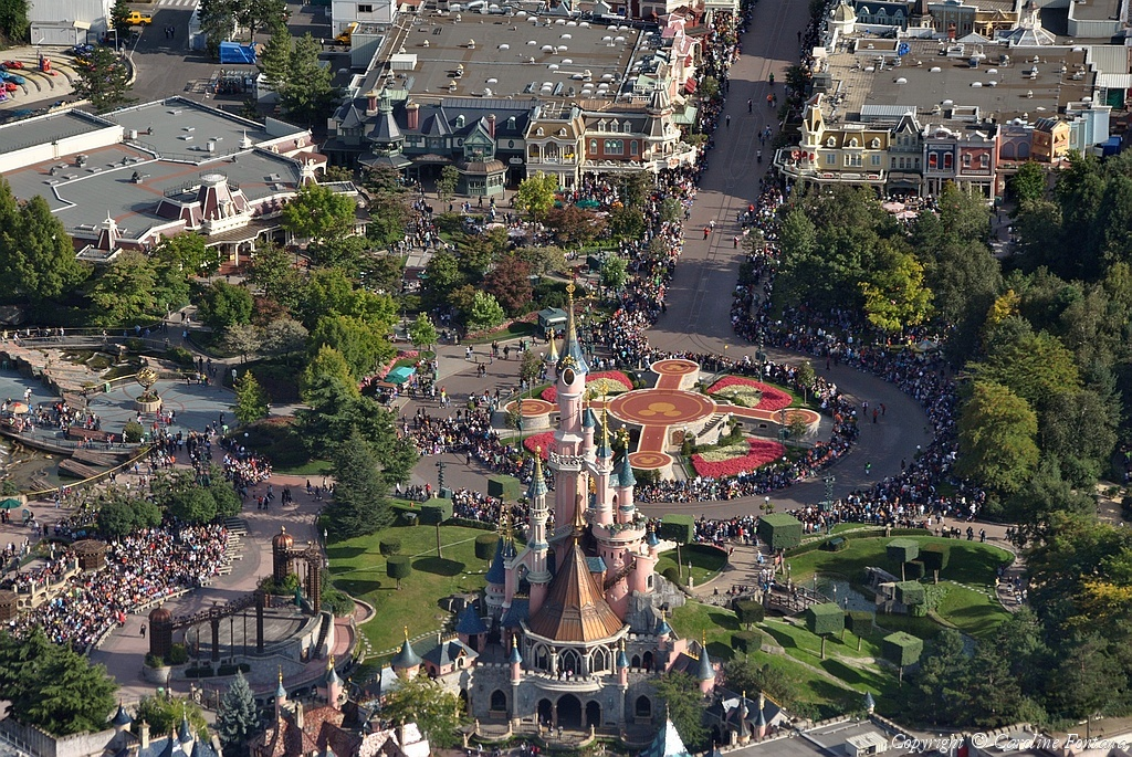 Disneyland® Paris vista dall'alto 29465