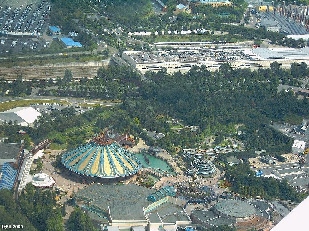 Disneyland® Paris vista dall'alto 3185