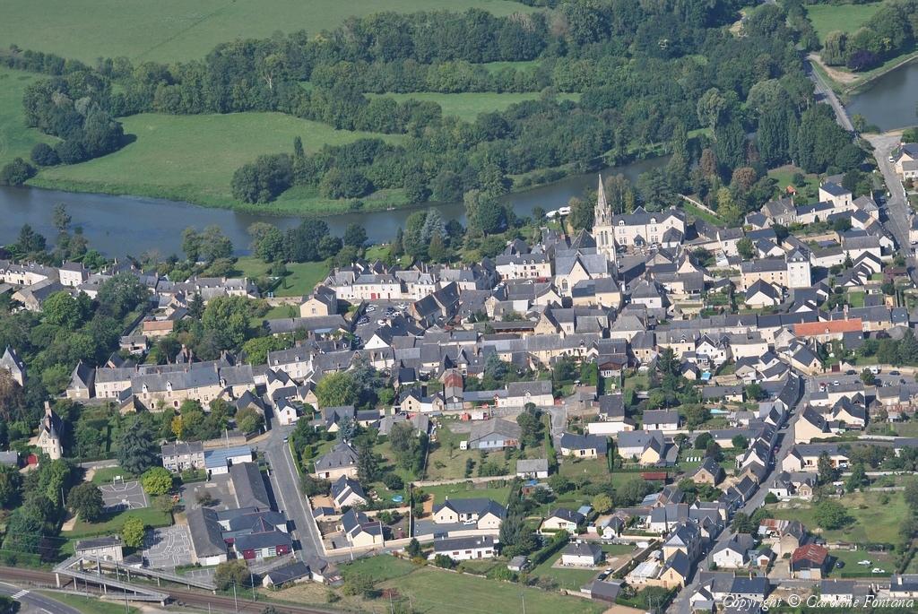 Photo aérienne de Morannes - Maine-et-Loire (49)
