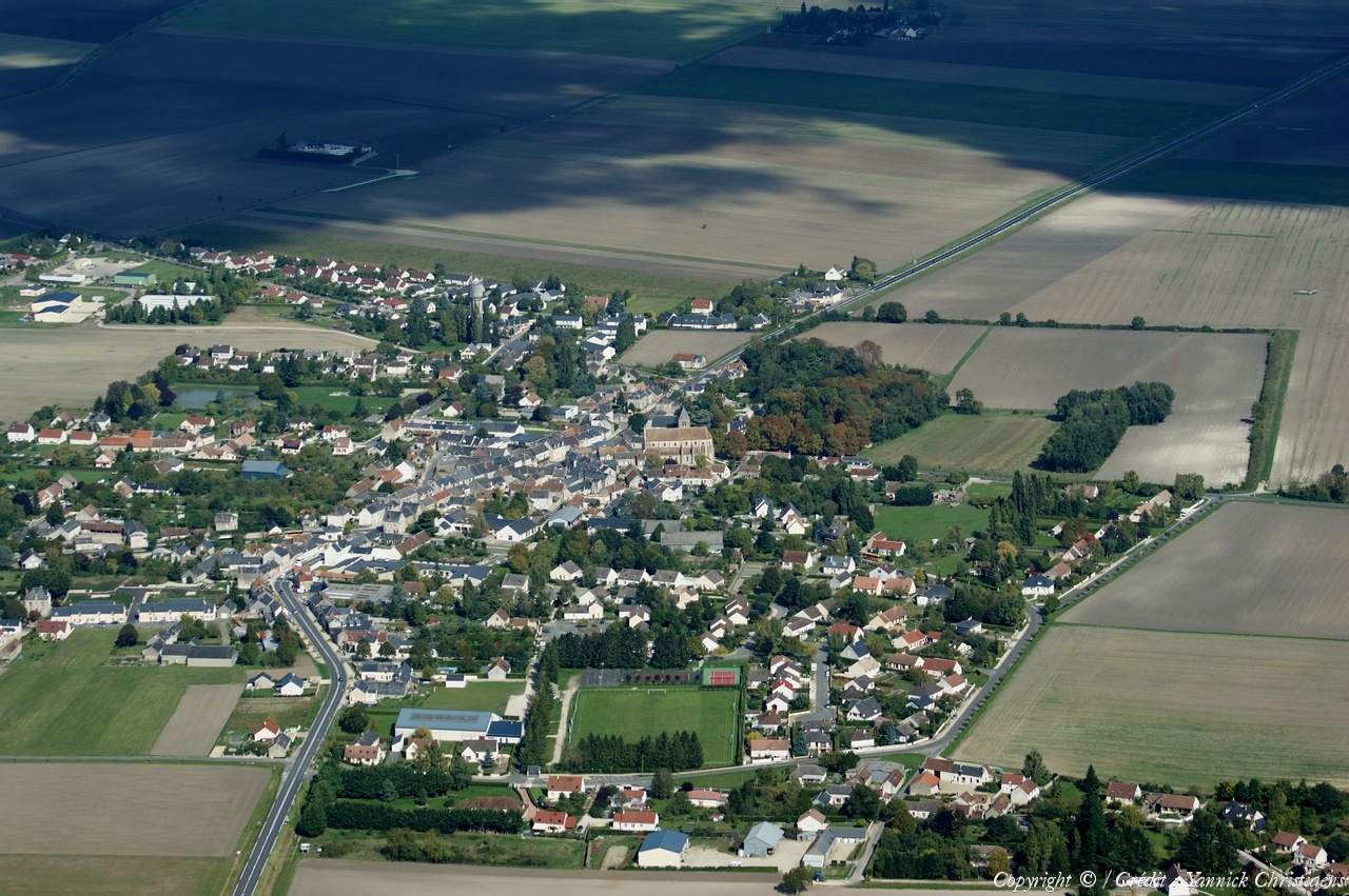 Photo aérienne de Chilleurs aux Bois Loiret (45) # Spa Chilleurs Au Bois