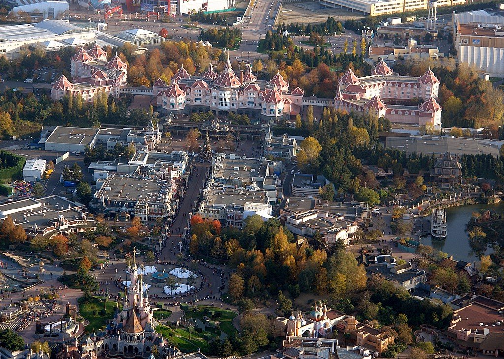 Disneyland® Paris vista dall'alto 7098